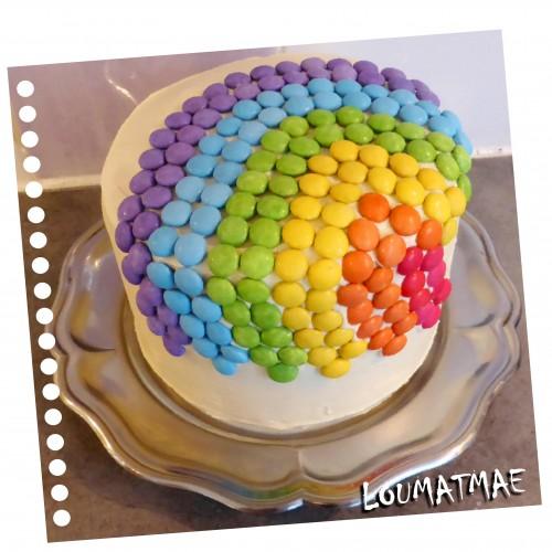 Rainbow Cake gâteau arc en ciel smarties