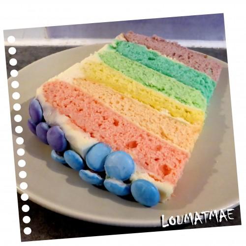 6 couleurs gâteau arc en ciel