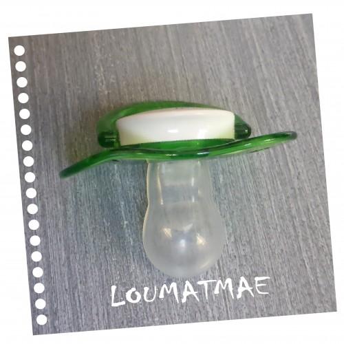 collerette plastique déformée sucette Luc et Léa