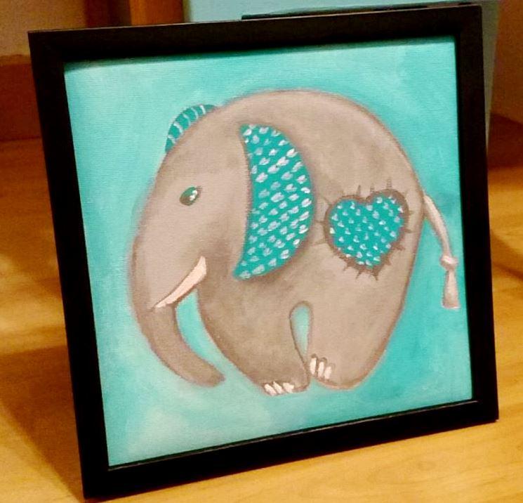 """toile enfant """"elephant"""" par """"Le Jardin d'Elora"""""""