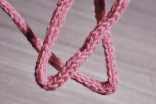 tube de laine tricotin