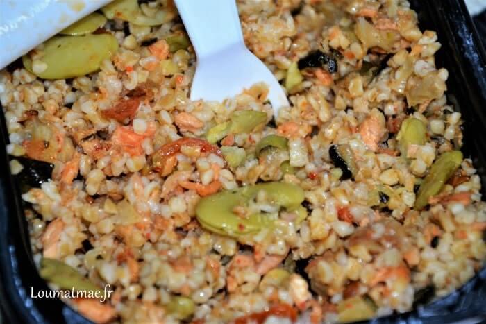 Salade Saumon crevettes et boulgour Dietbon