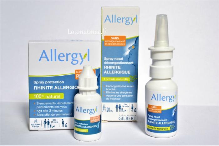 Spray nasal et poudre nasale Allergyl des laboratoires Gilbert