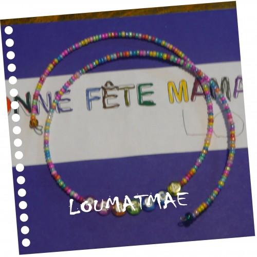 collier de perles fête des mères