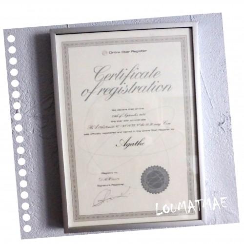 certificat de notre étoile Agathe, deuil perinatal