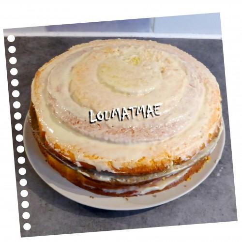 assemblage terminé du gâteau damier