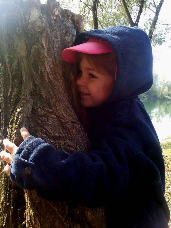 faire un calin à un arbre