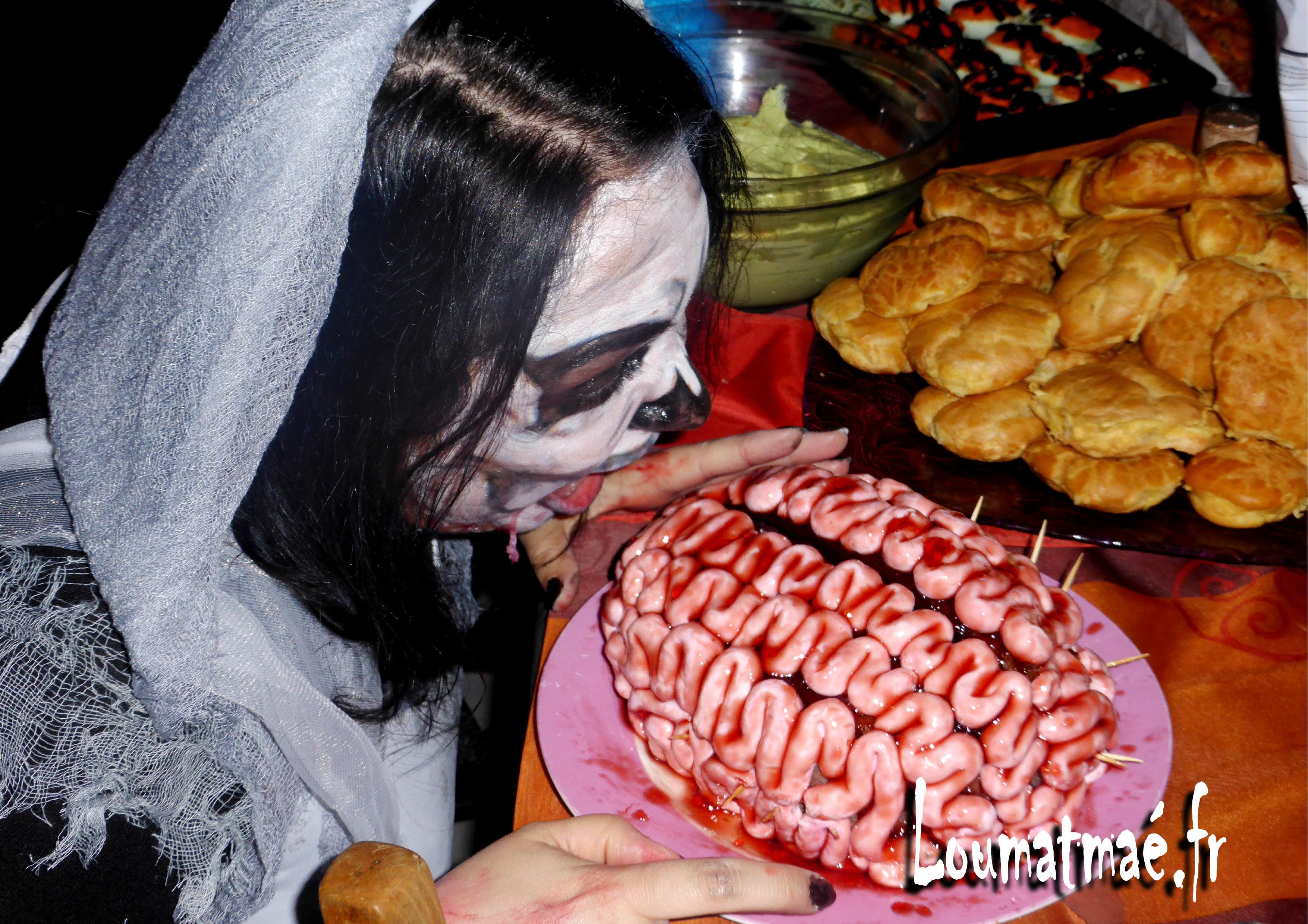 Gâteau cerveau Halloween