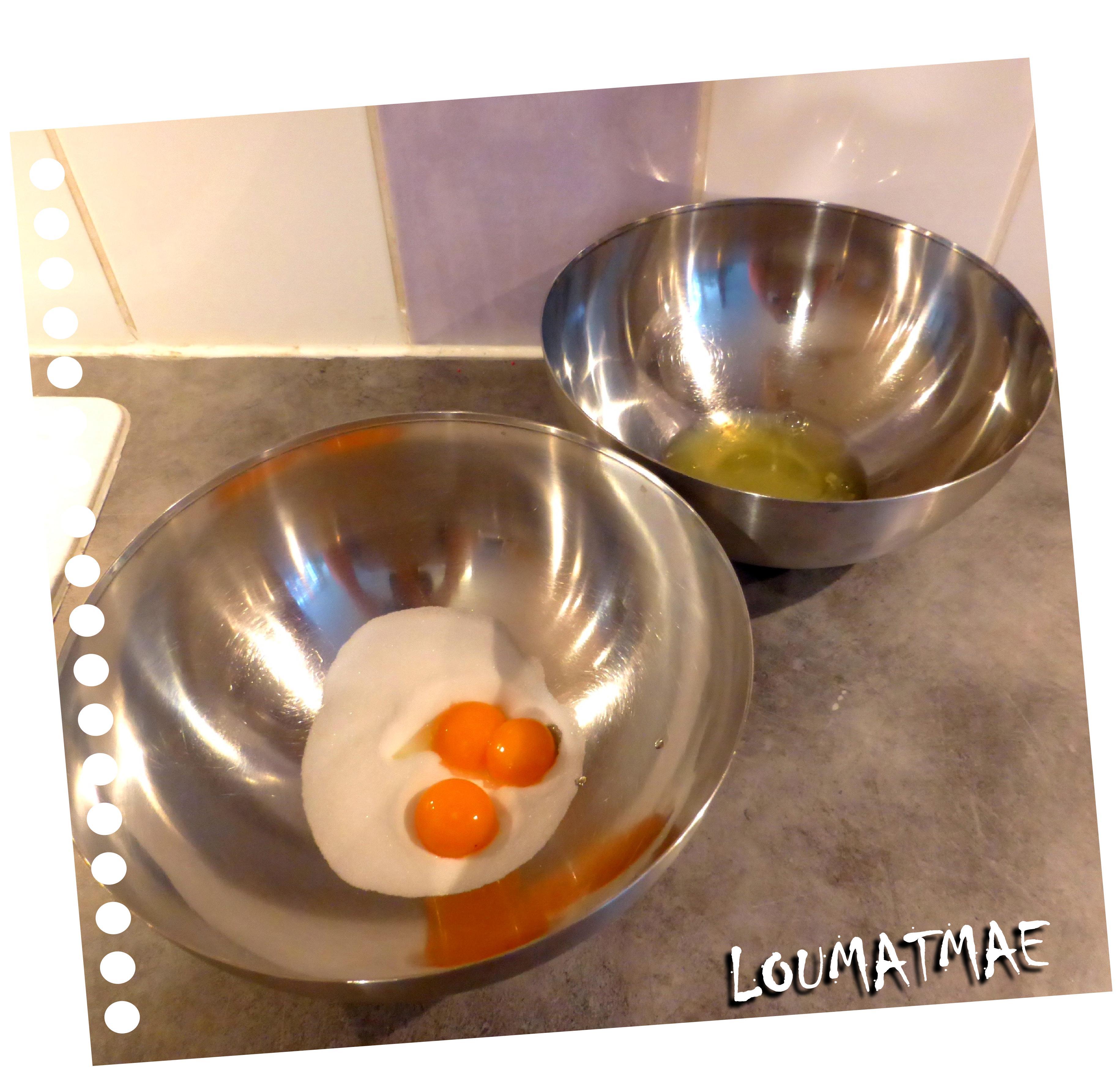 séparer blancs et jaunes d'oeufs