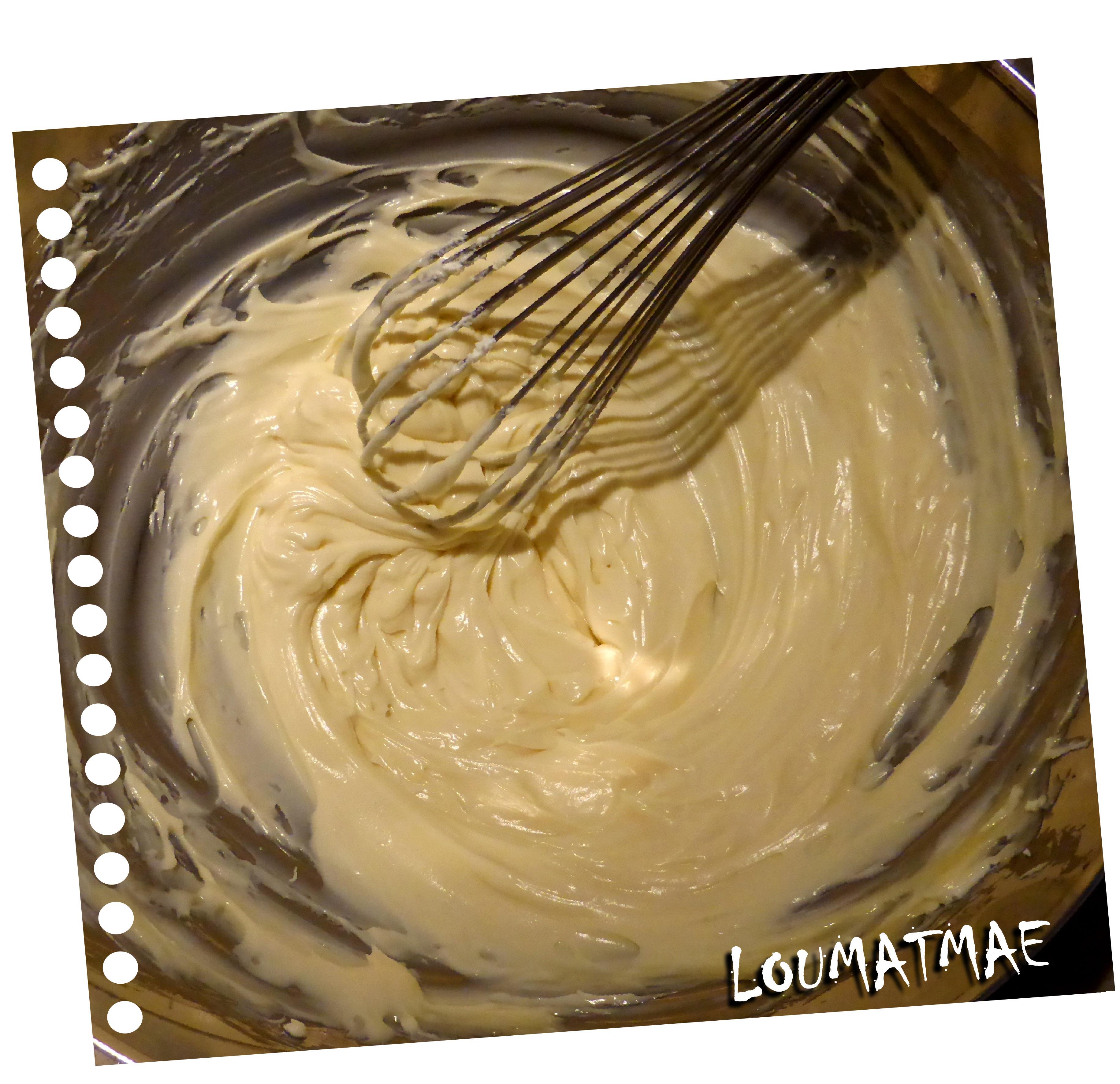 mélange chocolat blanc mascarpone