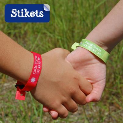 Bracelets identfication enfants-Stikets