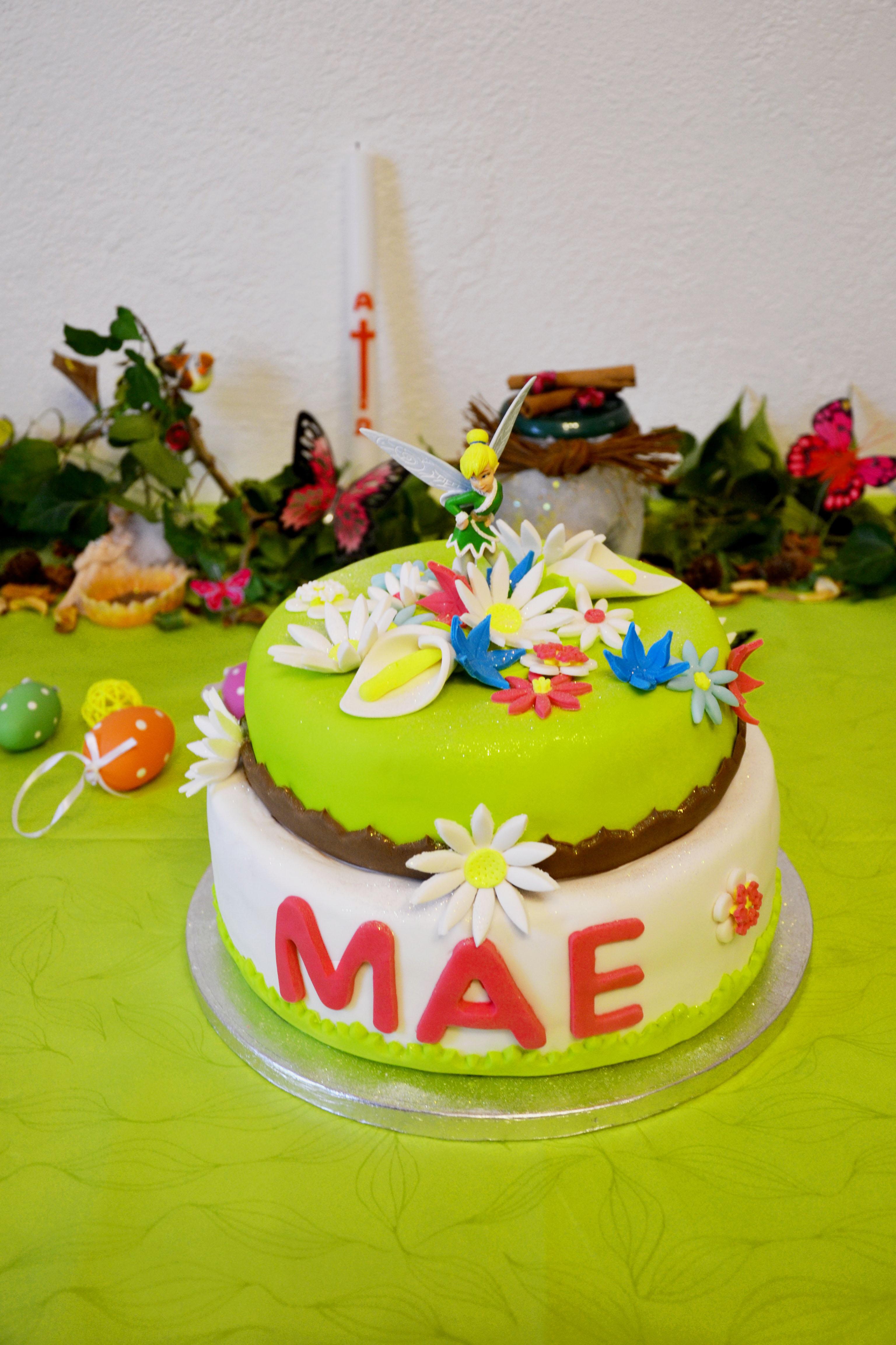 gâteau jardin fée clochette