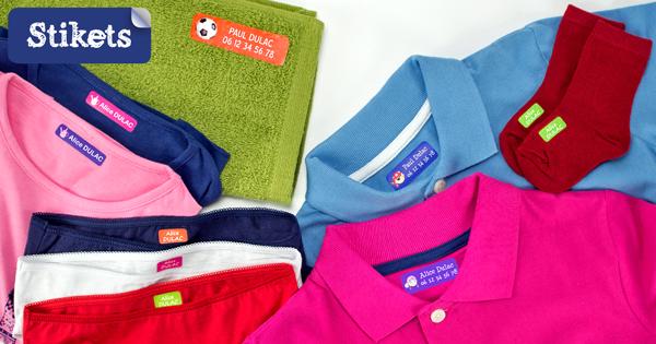 étiquettes thermocollantes vêtements