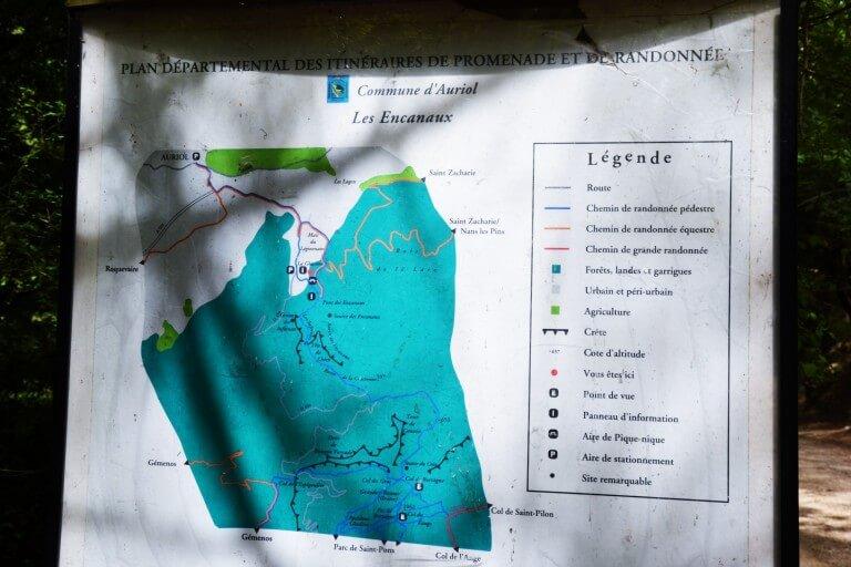 plan du site des Encanaux