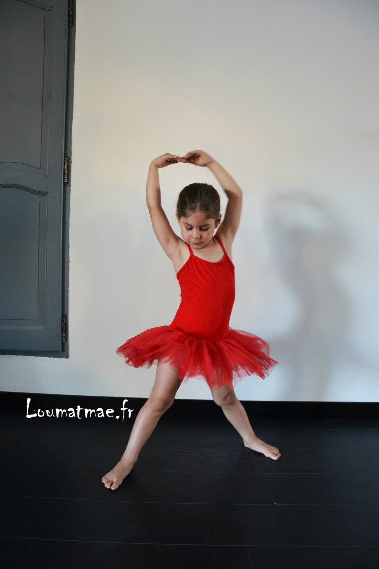 ballerine tutu rouge