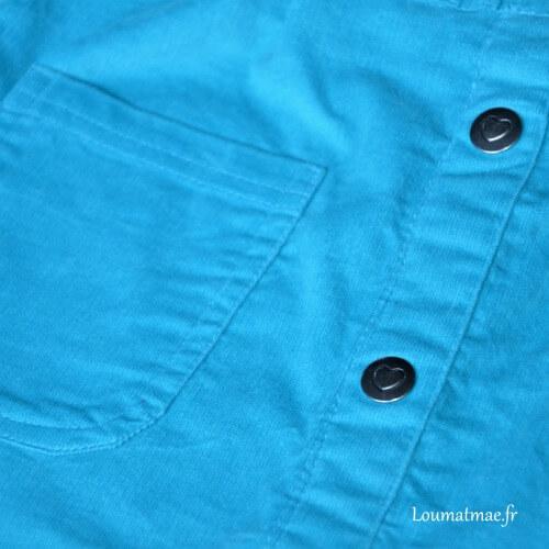 jupe velour bleu glace Stockomani