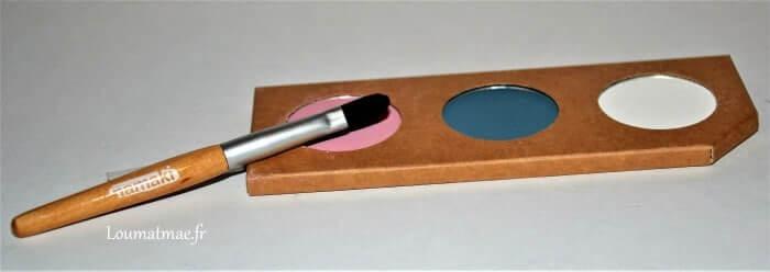 Kit de maquillage bio pour enfant Namaki, palette et pinceau