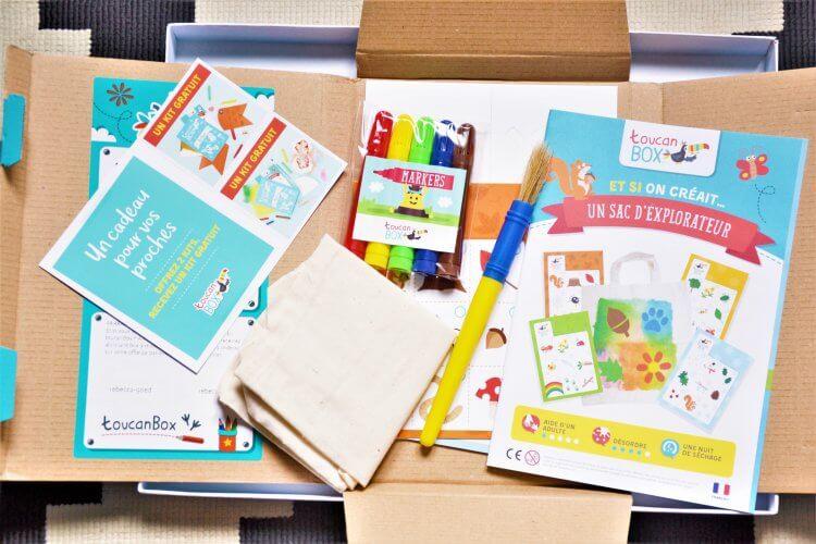 kit complet de la box créative toucan box