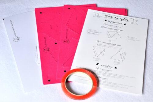 kit et mode d'emploi trophée licorne origami